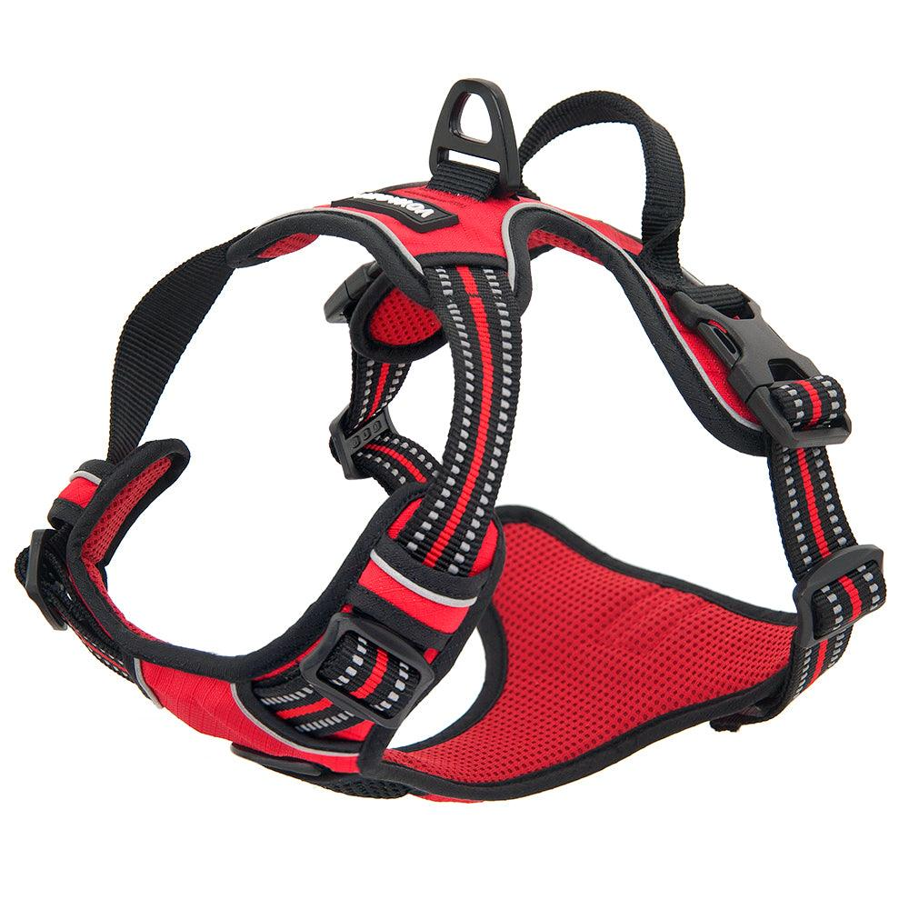 VOYAGER Dual-Attachment Dog Harness in Red - Expanded