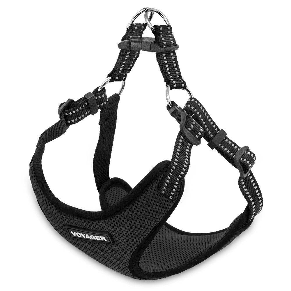 VOYAGER Step-In Flex Dog Harness in Black - Expanded