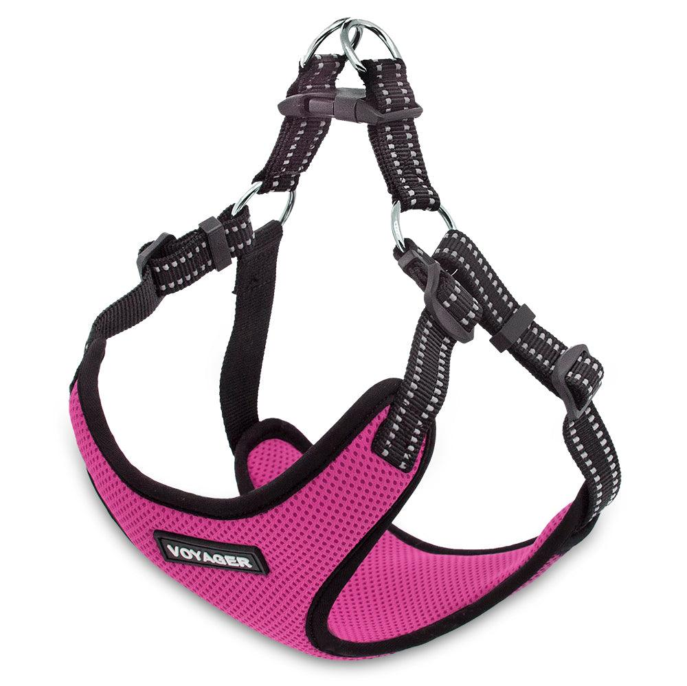 VOYAGER Step-In Flex Dog Harness in Fuchsia - Expanded