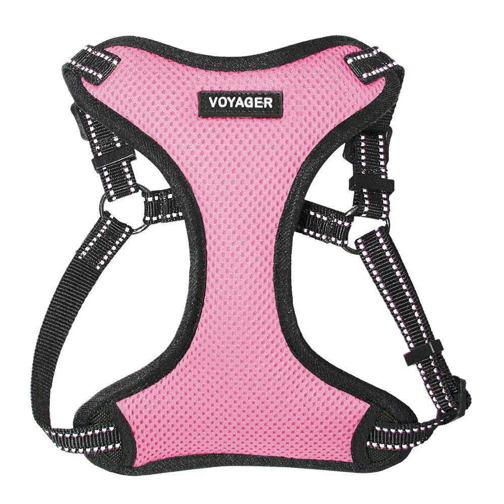VOYAGER Step-In Flex Dog Harness in Pink - Front