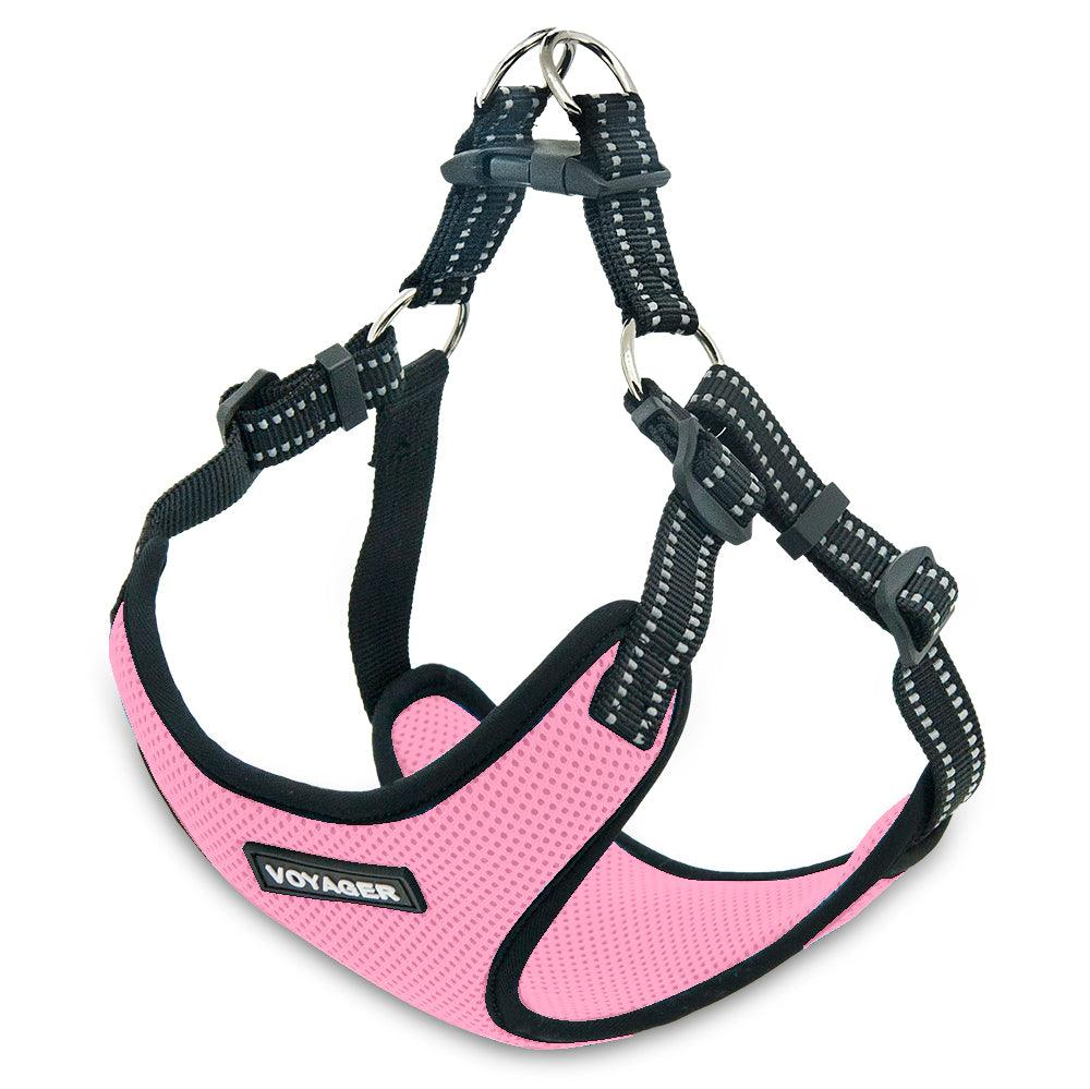 VOYAGER Step-In Flex Dog Harness in Pink - Expanded