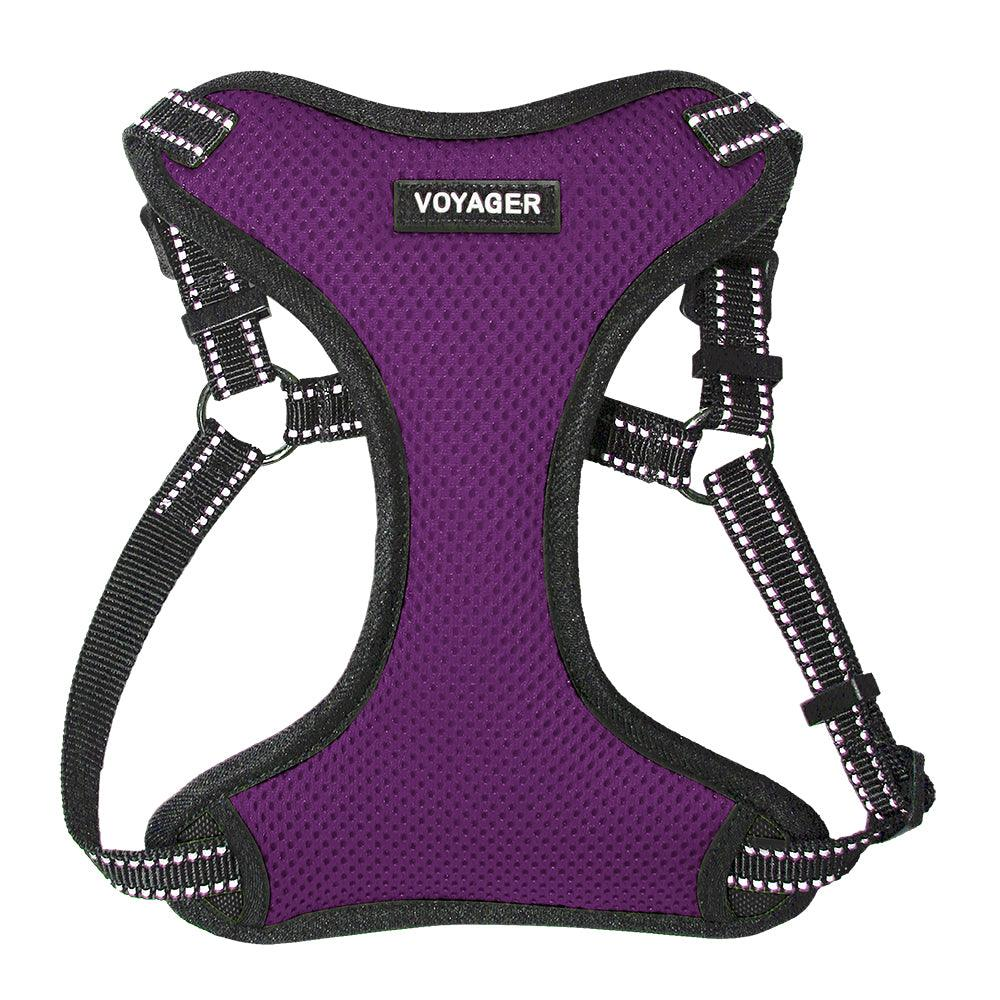 VOYAGER Step-In Flex Dog Harness in Purple - Front