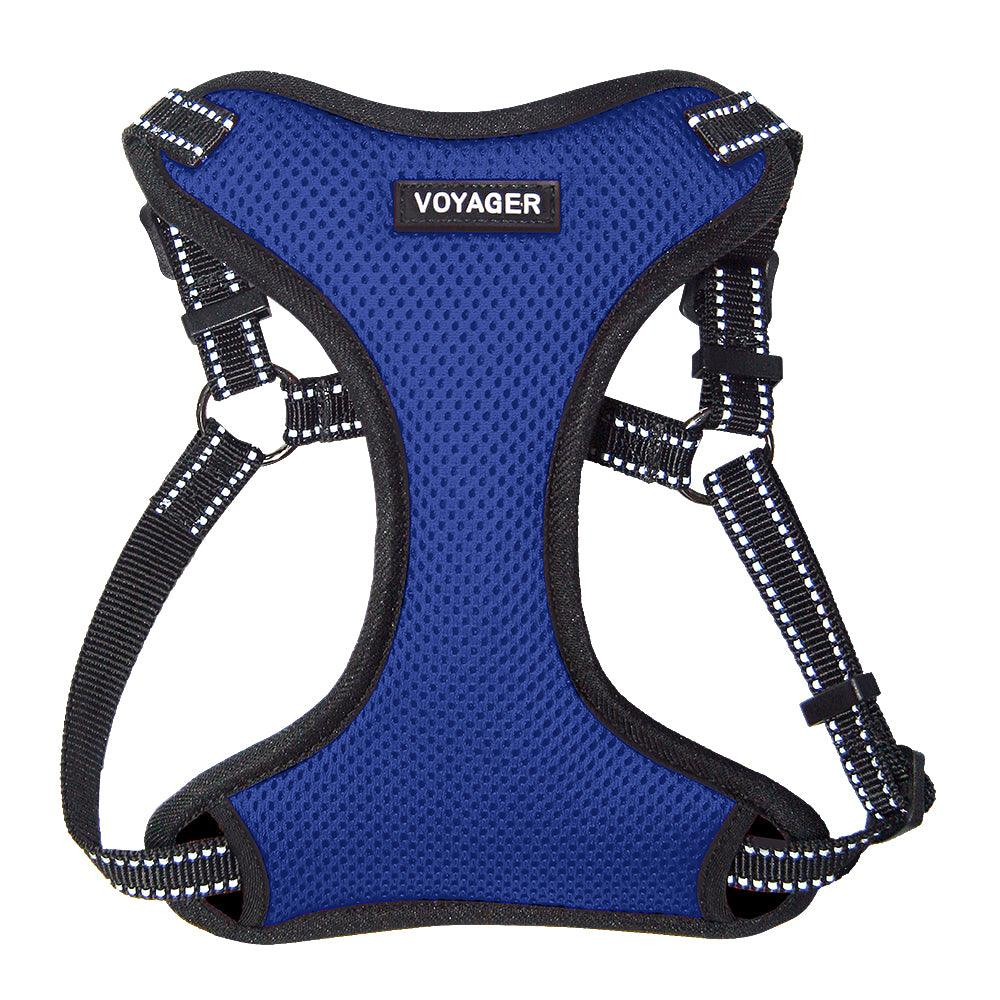 VOYAGER Step-In Flex Dog Harness in Royal Blue - Front