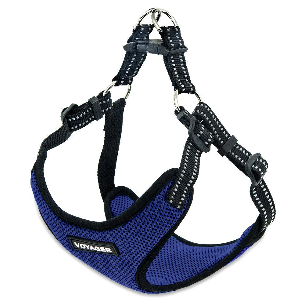 VOYAGER Step-In Flex Dog Harness in Royal Blue - Expanded
