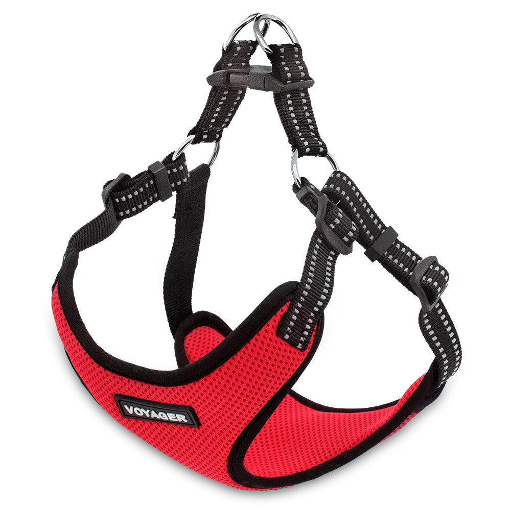 VOYAGER Step-In Flex Dog Harness in Red - Expanded