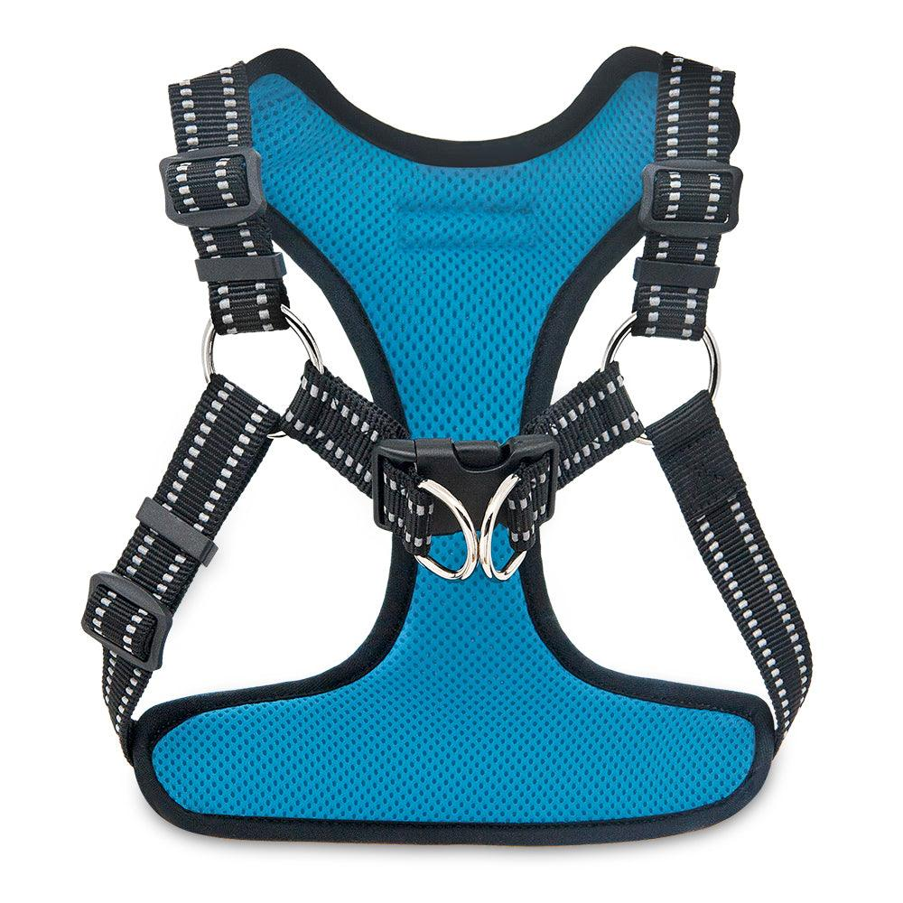 VOYAGER Step-In Flex Dog Harness in Turquoise - Back