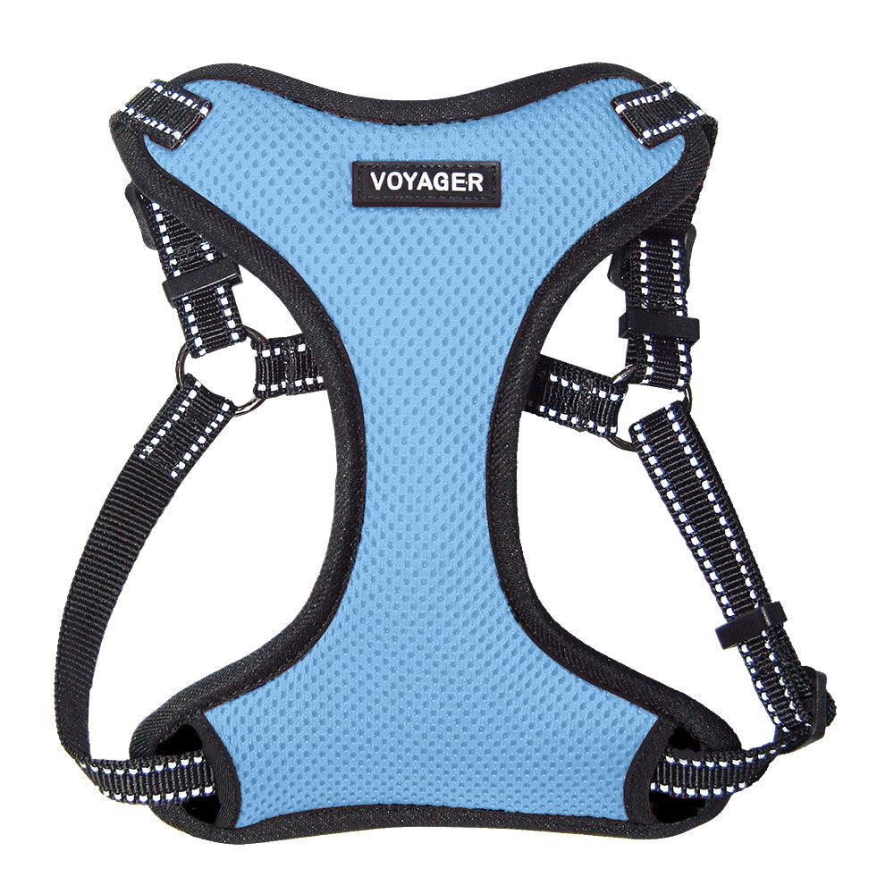 VOYAGER Step-In Flex Dog Harness in Baby Blue - Front