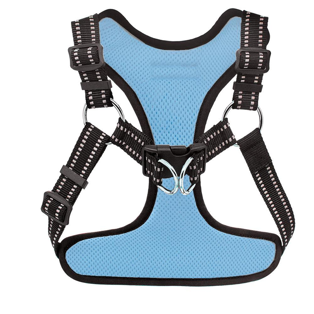 VOYAGER Step-In Flex Dog Harness in Baby Blue - Back