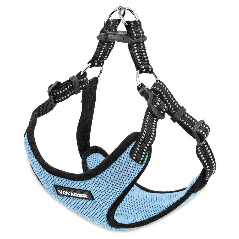VOYAGER Step-In Flex Dog Harness in Baby Blue - Expanded