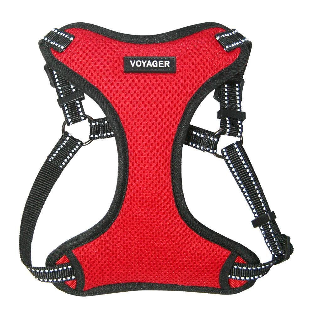 VOYAGER Step-In Flex Dog Harness in Red - Front