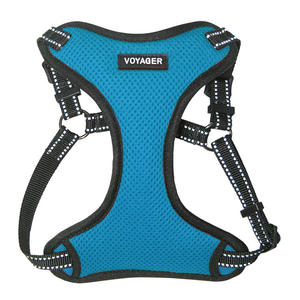 VOYAGER Step-In Flex Dog Harness in Turquoise - Front