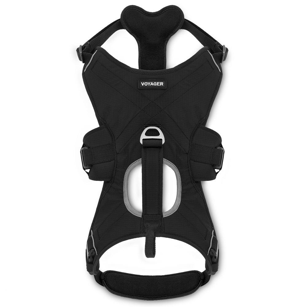 VOYAGER Control Dog Harness in Black - Front