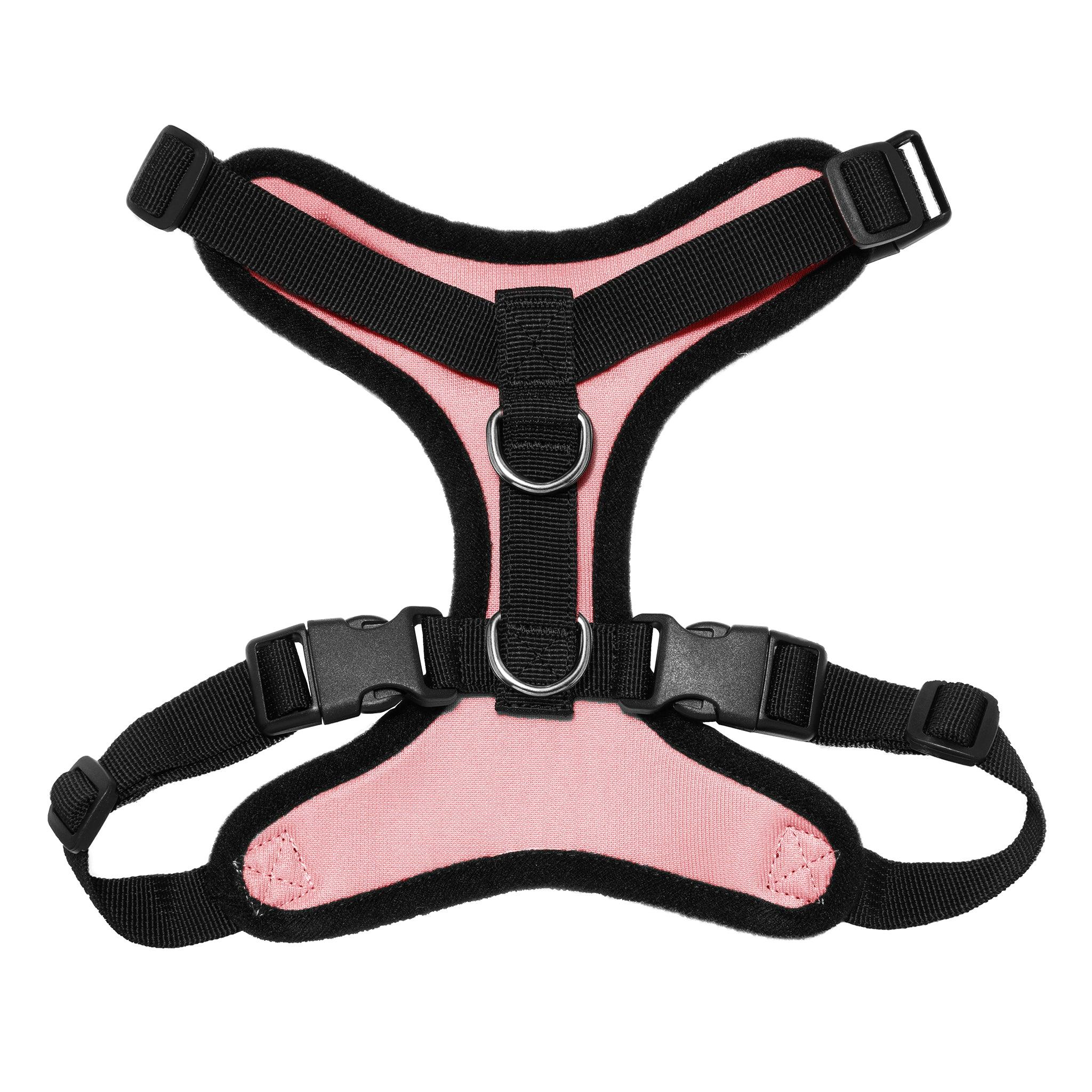 VOYAGER Step-In Lock Dog Harness in Black with Matching Trim and Webbing - Back