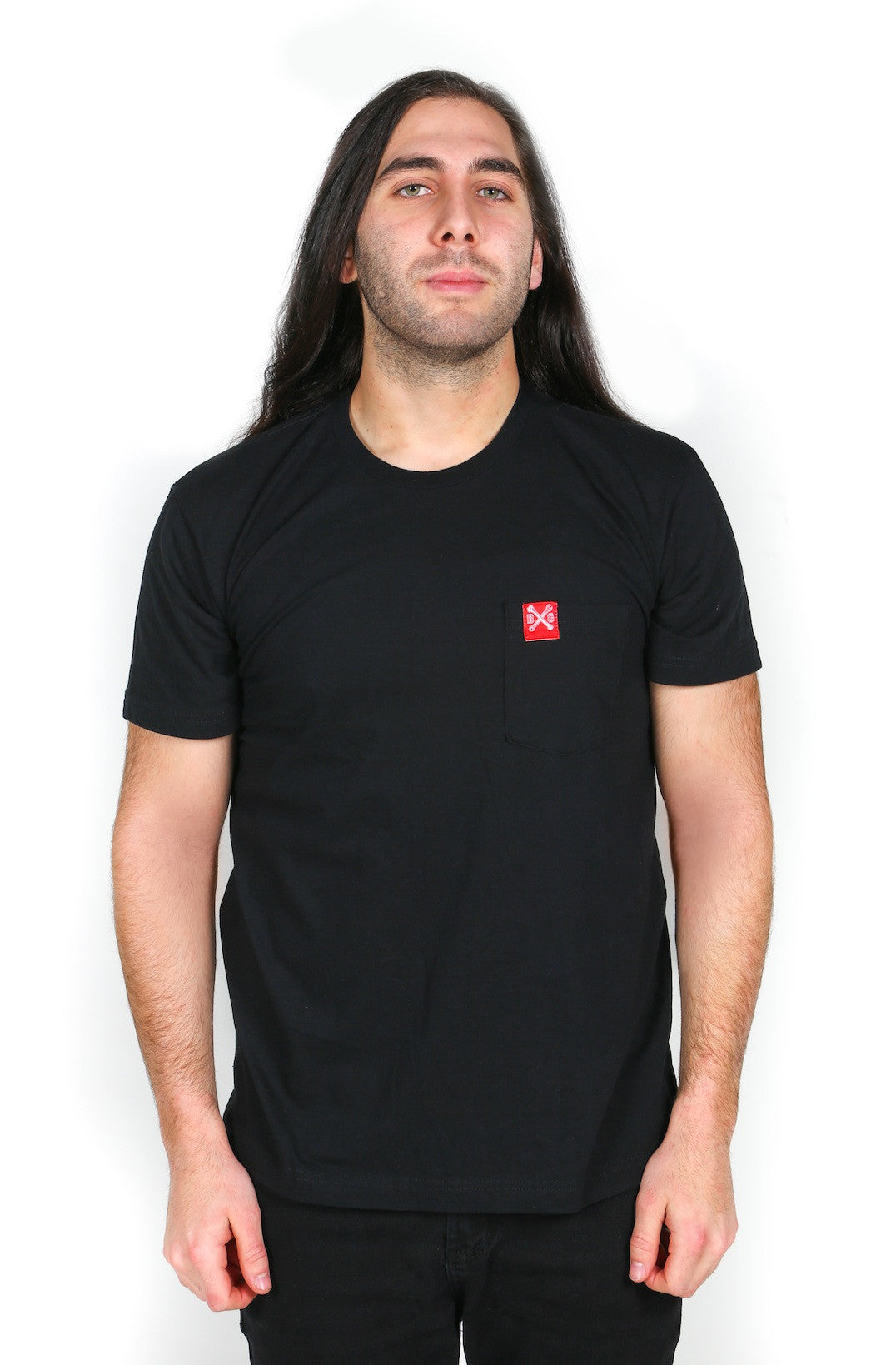 B&G Bones Pocket-T (Fine Jersey: Black)