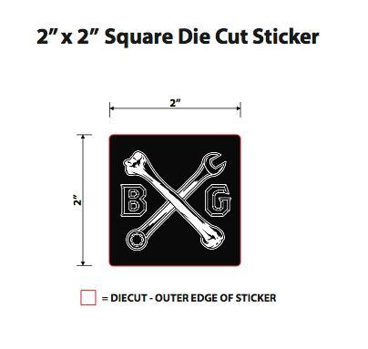 Cross Bones Sticker (3-Pack)