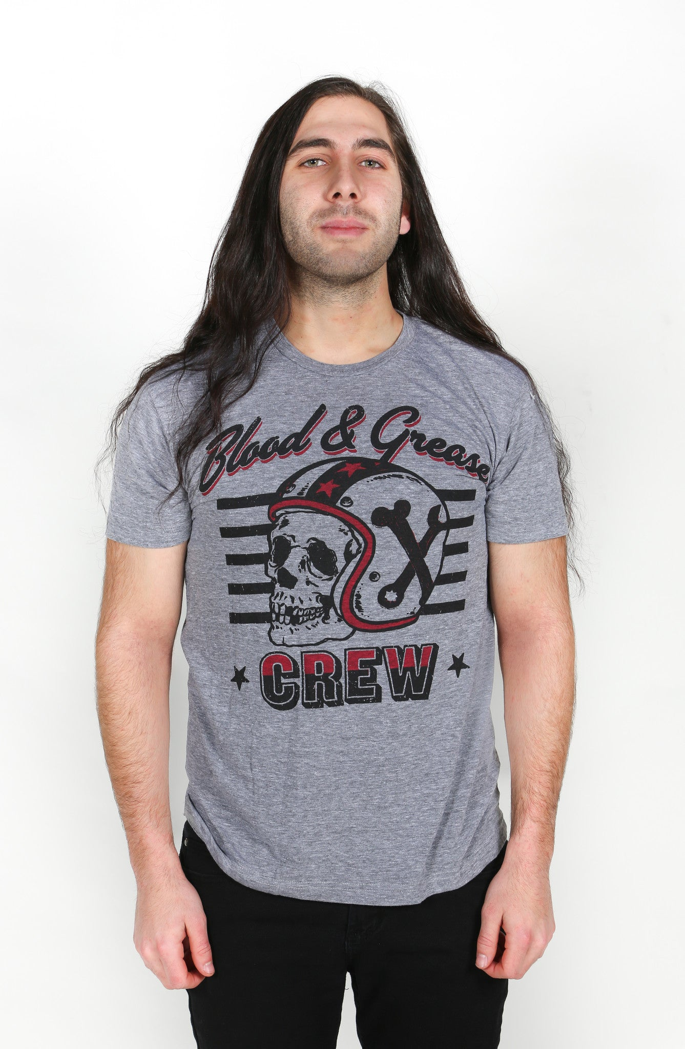 B&G CREW (Tri-blend: Athletic Grey)