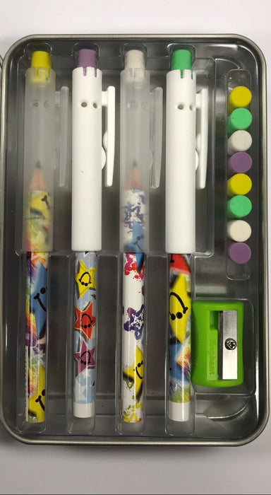 Pointless Pencil Kit (4 Pack): Smiley Stars
