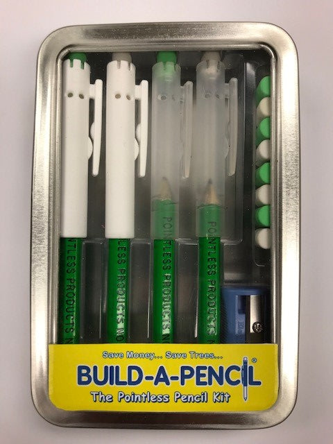 Pointless Pencil Kit (4 Pack): Neon Green