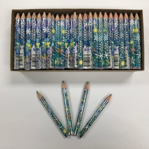 Decorated Pencils: Snowflake Glitters