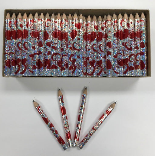 Decorated Pencils: Scattered Hearts