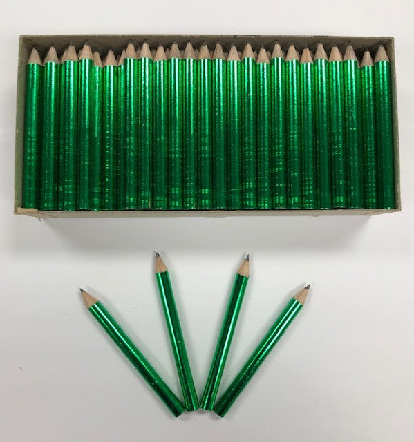 Decorated Pencils: Gotch-ya Green