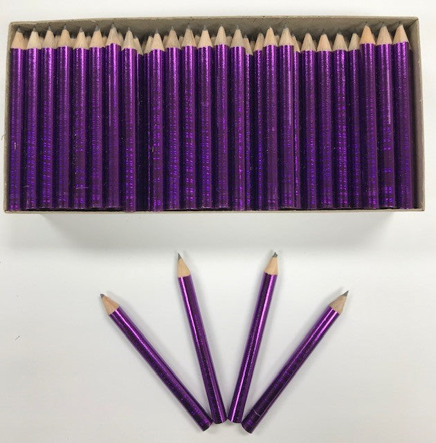 Decorated Pencils: Purple With A Punch
