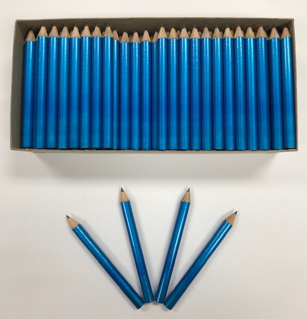 Decorated Pencils: Powder Puff Blue