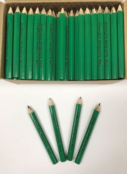Decorated Pencils: Green Pocket Size #2