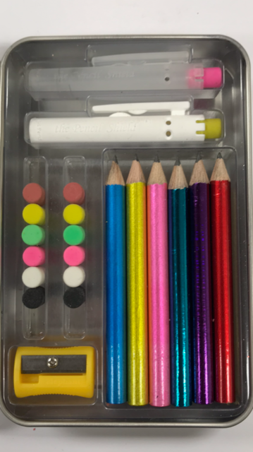 Build-A-Pencil Kit: Assorted Metallics