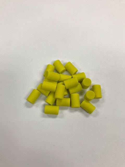 50 Piece Replacement Eraser Pack (Neon Yellow)