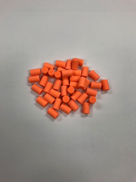 50 Piece Replacement Eraser Pack (Neon Orange)