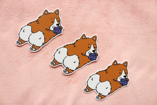 Corgi Dice Buddy Sticker