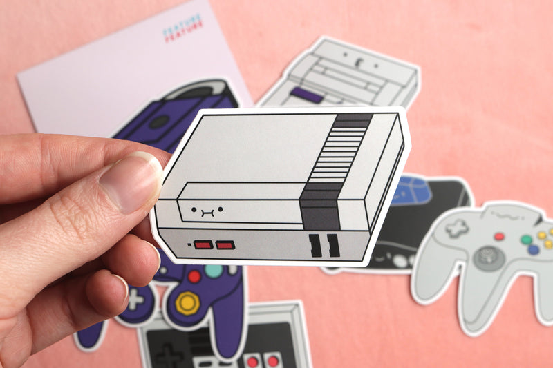 Nintendo Consoles and Controller Stickers