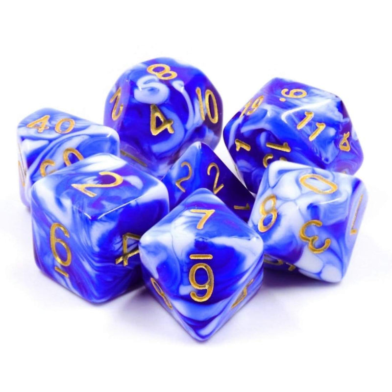 Blue Porcelain RPG Dice Set