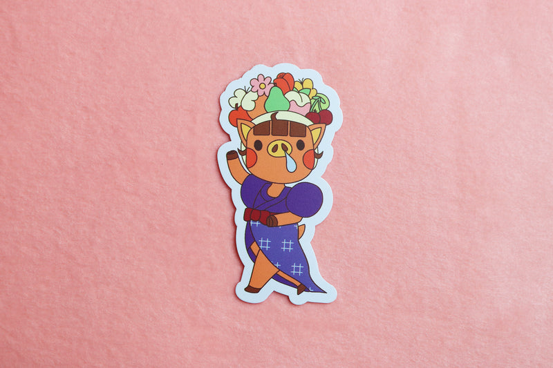 Animal Crossing New Horizons Daisy Mae Carmon Miranda Fruit Basket Hat Sticker