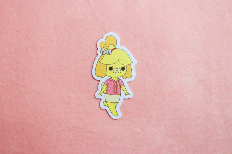 Isabelle in New Horizons Work Uniform Sticker