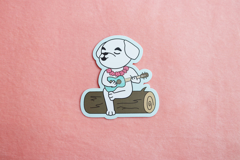 Animal Crossing K.K. Slider Playing Ukulele Sticker
