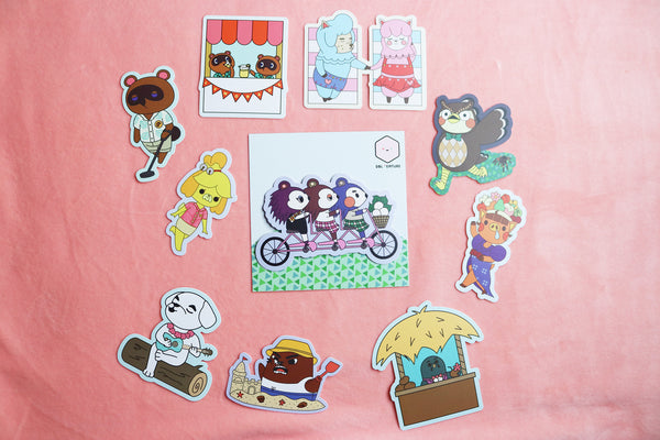 Unpackaged animal crossing sticker pack
