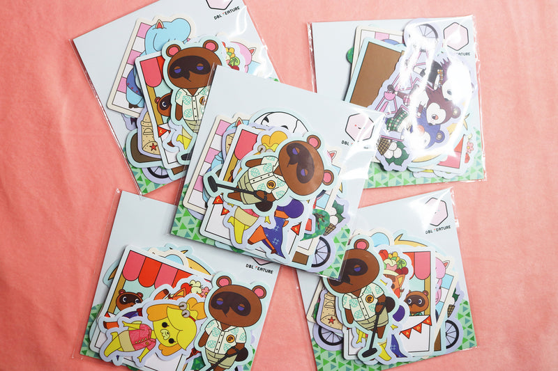 Packaged Animal Crossing Sticker Packs
