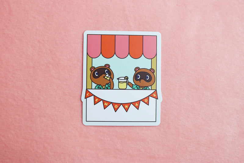 Animal Crossing Timmy and Tommy Lemonade Stand Sticker