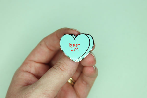 Best DM Conversation Heart Hard Enamel Pin