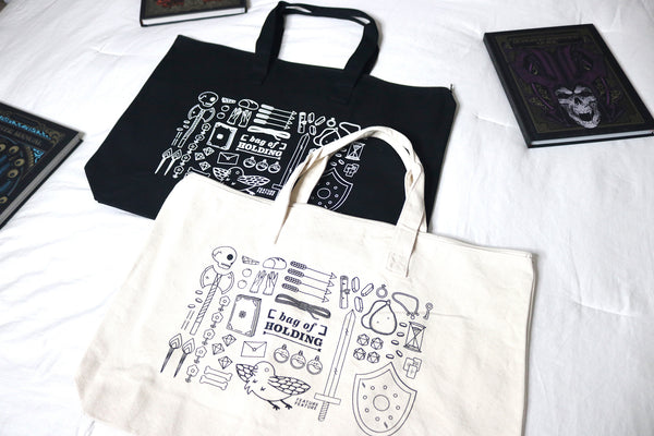 black and white bag of holding canvas totes bags