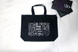 Black Canvas Bag of Holding Tote from Dungeons and Dragons