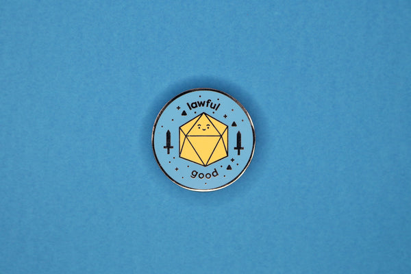 Blue and Yellow Lawful Good Pin
