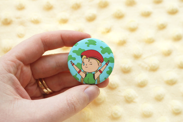 Street Fighter Girls Buttons