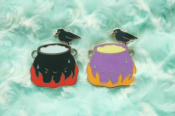 Cauldron Crow Hard Enamel Pin