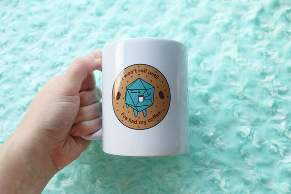 Coffee Drinking D20 Ceramic Coffee Mug