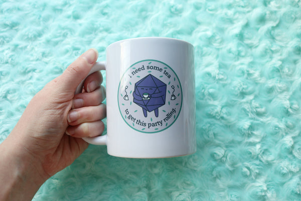 Tea Drinking D20 Ceramic Mug