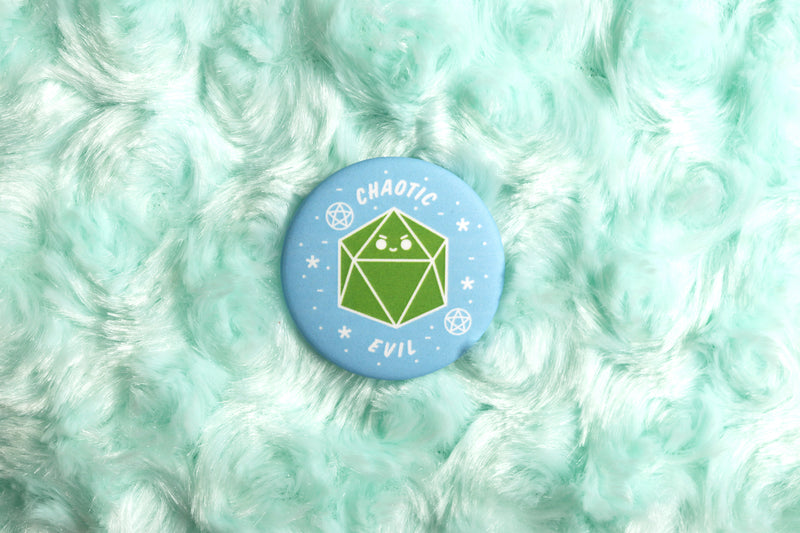 Chaotic Evil DnD Alignment Button