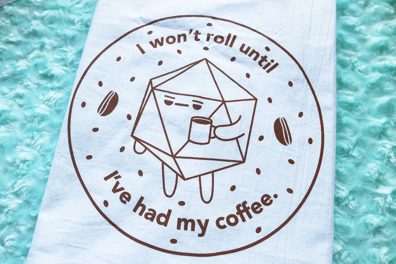 D20 Coffee Tea Towel